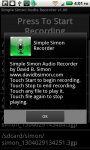 Simple Simon Voice and Audio Recorder screenshot 1/2