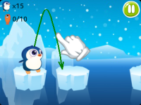 Jumping Penguin - Funny Ice Fishing screenshot 2/3