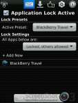 Lock for BlackBerry Travel screenshot 2/3