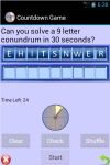 Countdown Words and Numbers Game screenshot 3/6