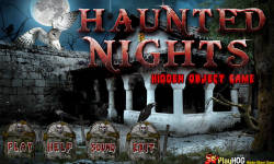 Free Hidden Object Games - Haunted Nights screenshot 1/4