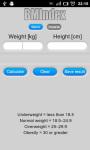 BMIndex Calculator screenshot 1/3
