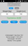 BMIndex Calculator screenshot 2/3