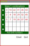 Lotto 6/45 screenshot 2/2