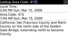 AreaCode411 screenshot 1/1