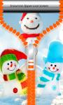 Snowman Zipper Lock Screen Best screenshot 1/6
