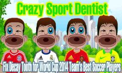 Soccer Dentist Fix Decay Tooth for Football Player screenshot 1/6