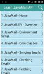 Learn JavaMail API screenshot 1/2