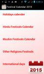 Festival Calender 2015 screenshot 3/3