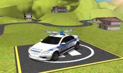 Flying Police Car Driver 3D screenshot 3/4