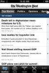 The Washington Post iPhone App screenshot 1/1