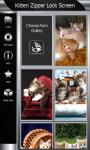 Kitten Zipper Lock Screen screenshot 4/6