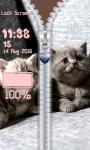 Kitten Zipper Lock Screen screenshot 6/6