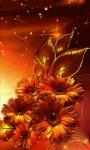 Golden Flowers Live Wallpaper screenshot 2/3