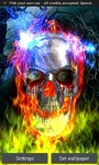 Metal Skull On Fire LWP free screenshot 1/5