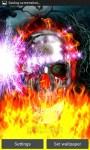 Metal Skull On Fire LWP free screenshot 2/5