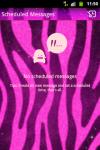 GO SMS Pro Theme Pink Zebra pink screenshot 3/5