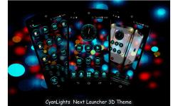 CyanLights Next Launcher 3D Theme screenshot 2/4