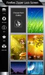 Fireflies Zipper Lock Screen screenshot 4/6