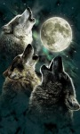 Wolves Howling Moon Live Wallpaper screenshot 1/2