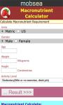 Macronutrient Calculator screenshot 2/3