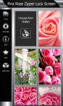 Pink Rose Zipper Lock Screen screenshot 4/6