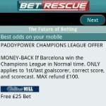 Betrescue Mobile Sports Betting App screenshot 4/6