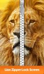 Lion Zipper Lock Screen Best screenshot 1/6