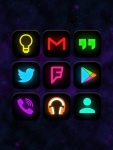 Neon Glow - Icon Pack absolute screenshot 1/6