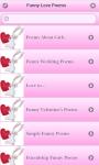 Funny Love Poems screenshot 2/6