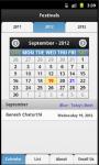 Indian Festival Calendar screenshot 1/4