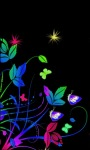 Neon Flowers Live Wallpaper screenshot 1/3