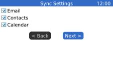 AstraSync Exchange ActiveSync for Blackberrys screenshot 2/4