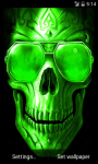 Green Skull Live Wallpaper screenshot 2/4
