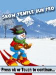 Snow Temple Run Pro screenshot 1/1