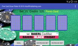 Five Card Draw Poker Simulator screenshot 1/6