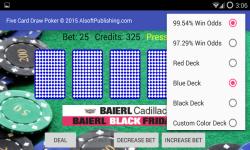 Five Card Draw Poker Simulator screenshot 2/6
