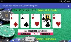 Five Card Draw Poker Simulator screenshot 3/6