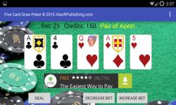 Five Card Draw Poker Simulator screenshot 4/6