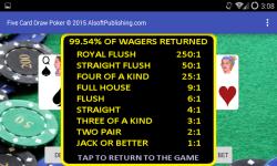 Five Card Draw Poker Simulator screenshot 5/6