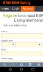 BBW BHM Dating screenshot 1/3