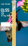 Zipper Lock Screen Hummingbird screenshot 4/6