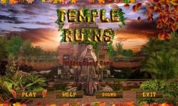 Free Hidden Object Games - Temple Ruins screenshot 1/4