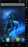 Blue Neon Horse Live Wallpaper screenshot 1/2