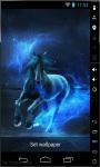 Blue Neon Horse Live Wallpaper screenshot 2/2