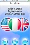 Free Italian English Dictionary & Phrasebook screenshot 1/1