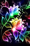 Flowers Coloured Crazy Glitter screenshot 2/3