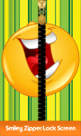 Smiley Zipper Lock Screen Free screenshot 1/6