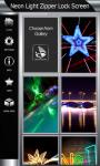 Neon Light Zipper Lock Screen screenshot 4/6