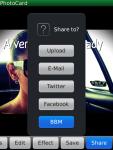 PhotoCard for Blackberry® screenshot 6/6